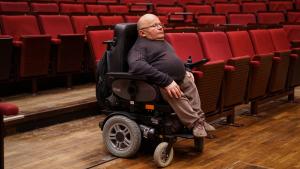 Oswald Utz im Konzertsaal des Gasteig